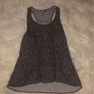 Grey cheetah tank top